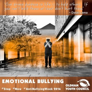emotional bullying poster 2016