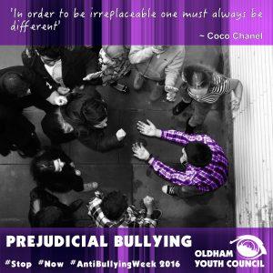 prejudicial bullying poster 2016