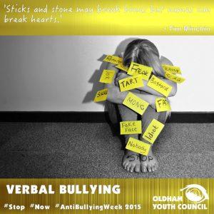 verbal bullying poster 2016