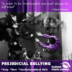 prejudicial bullying poster