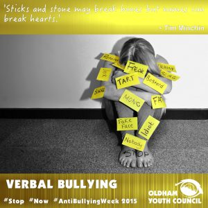 verbal bullying poster